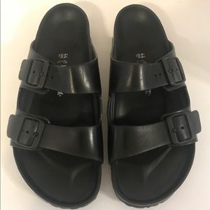 Birkenstock Eva Rubber Pool Slides Black 44